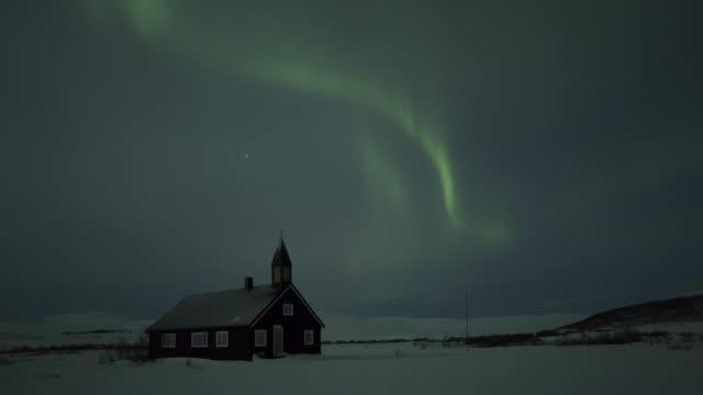 aurora borealis, northern lights, troms region, norway - polarlicht stock-videos und b-roll-filmmaterial