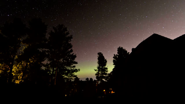 aurora borealis, timelapse - taiga stock videos and b-roll footage