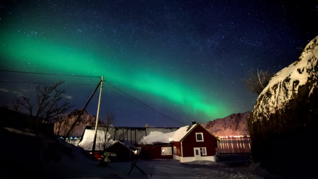 time lapse: aurora borealis - northern europe stock videos & royalty-free footage