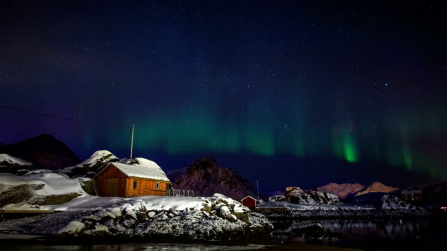 aurora borealis - cabin stock videos & royalty-free footage