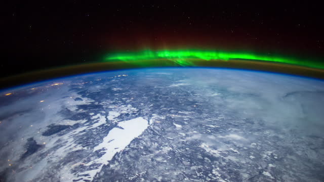aurora over north america - arctic stock videos & royalty-free footage