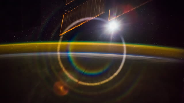 aurora over the earth seen from iss 4k time lapse - ozone layer stock videos & royalty-free footage