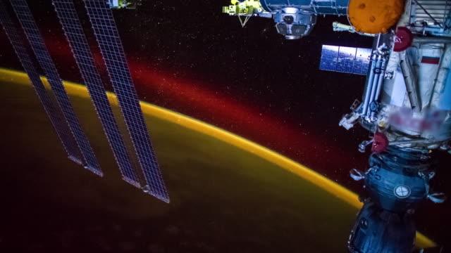aurora über die welt gesehen, von iss - kennedy space center stock-videos und b-roll-filmmaterial