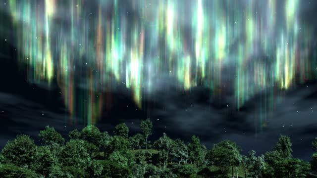 Aurora over the Trees