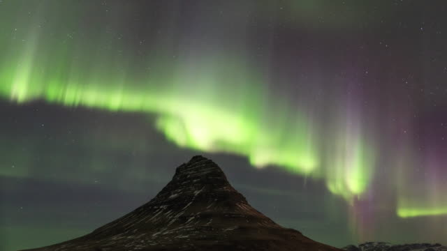 aurora storm over iceland - 30 seconds or greater stock videos & royalty-free footage