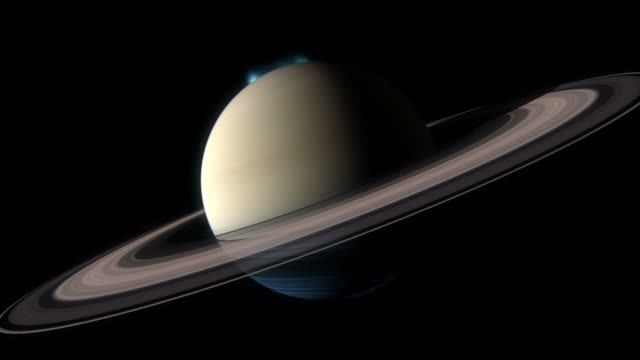 aurorae around both poles of saturn. - pole stock videos & royalty-free footage