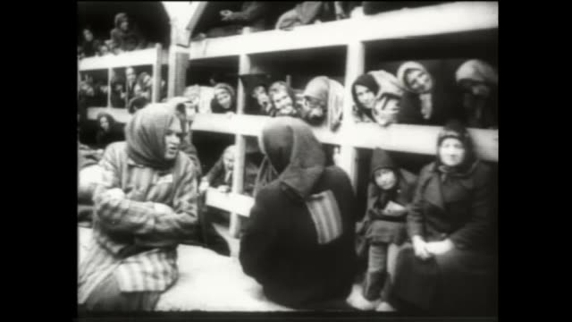 auschwitz 75 year anniversary: survivor renee salt visits the camp; poland: oswiecim: auschwitz: ext renee salt standing by 'arbeit mach frei' sign... - visit stock videos & royalty-free footage