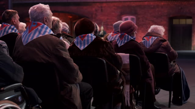 auschwitz concentration camp survivors and their families attend the official ceremony to mark the 75th anniversary of the liberation of the... - concentration stock videos & royalty-free footage