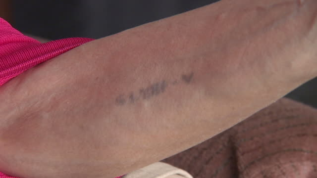 auschwitz tattoo - concentration camp stock videos & royalty-free footage