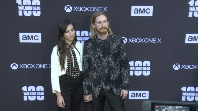 Austin Amelio at the AMC's The Walking Dead 100th Episode Season 8 Special Premiere Screening at The Greek Theatre on October 22 2017 in Los Angeles...