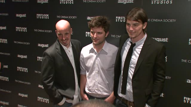 Austin Chick Adam Scott and Josh Hartnett at the The Cinema Society and First Look Studios Host a Screening of 'August' at New York NY