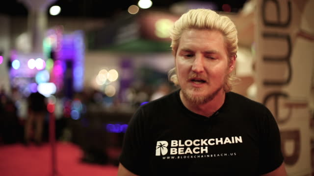 austin davis ceo cofounder of blockchain beach talks about how organizing health wellness events on catalina island inspired the creation of... - channel islands california stock videos & royalty-free footage