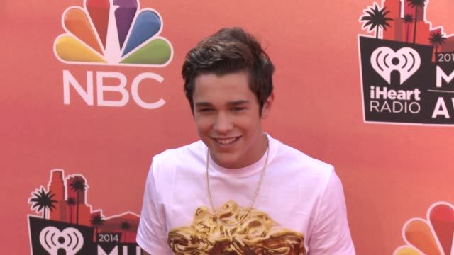 austin mahone at the 2014 iheartradio music awards - arrivals at the shrine auditorium on may 01, 2014 in los angeles, california. - shrine auditorium stock videos & royalty-free footage