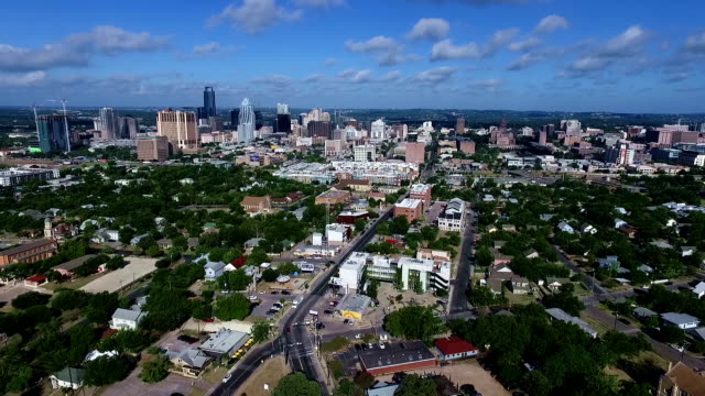 austin texas capitol cities skyline cityscape morning summertime bliss entire city view - east stock videos & royalty-free footage