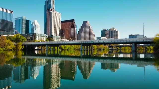 vídeos de stock e filmes b-roll de austin texas cityscape skyline 2020 - town