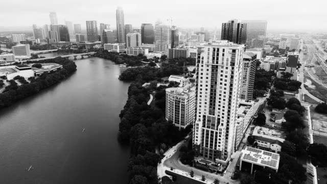vídeos de stock e filmes b-roll de austin texas modern capital cities - town
