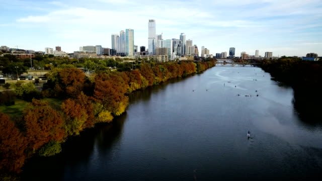 austin texas over town lake - capital cities stock videos & royalty-free footage
