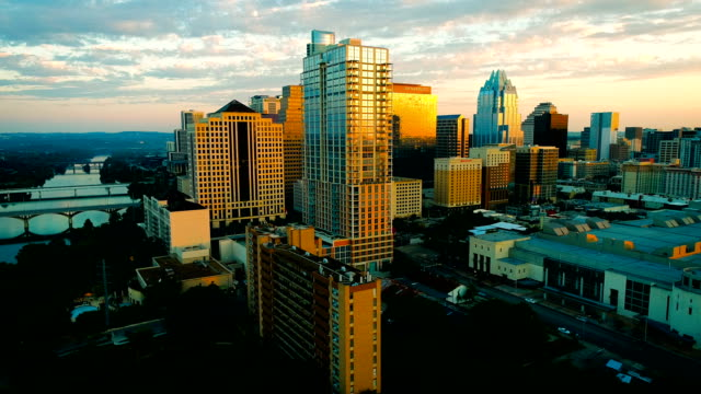 austin texas perfect sunrise golden modern capital city - capital cities stock videos & royalty-free footage
