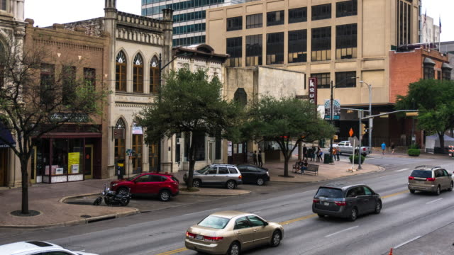 austin, texas street scene - southwest usa stock videos and b-roll footage