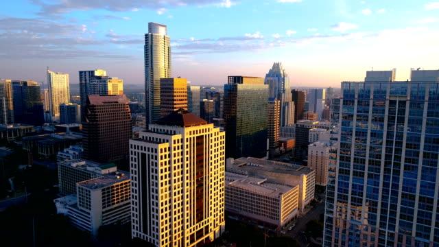 Austin Texas Sunrise Dramatic Colorful Morning backing up away from Skyline