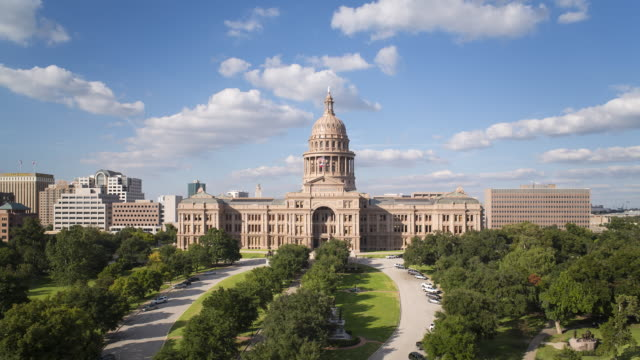 Austin, Texas, USA, State Capitol Building, time-lapse