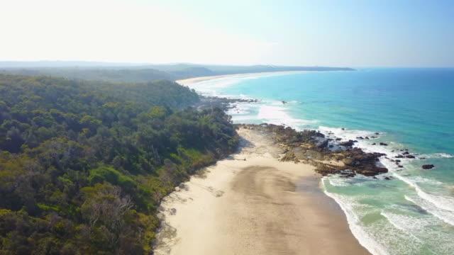 nsw, australia coastline ocean drone flyover - rural scene stock videos & royalty-free footage