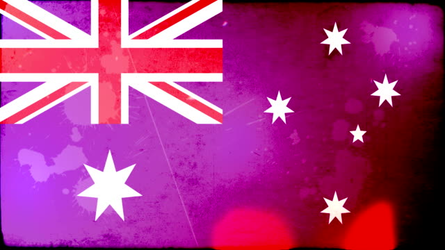 australia flag - grunge. hd - frayed stock videos & royalty-free footage