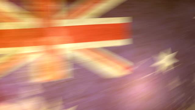 australien flagge grunge.  hd - - ausgefranst stock-videos und b-roll-filmmaterial