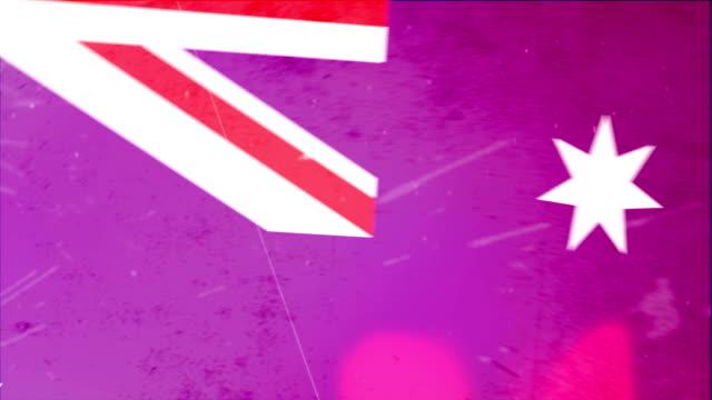 australien flagge-grunge-moves.  hd - - ausgefranst stock-videos und b-roll-filmmaterial