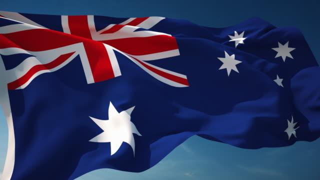 4K Australia Flag - Loopable