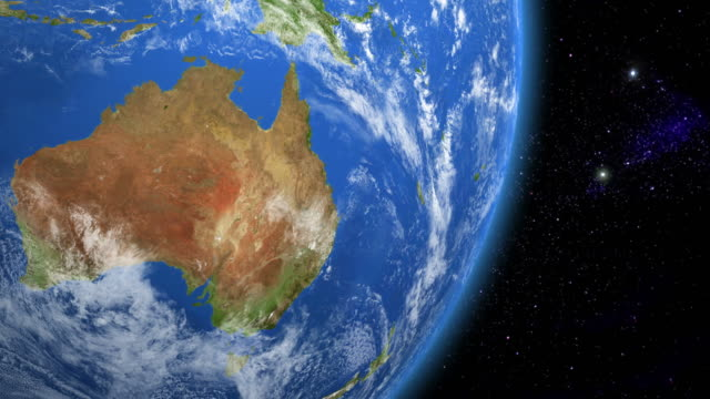 australia from space - planet space stock videos & royalty-free footage