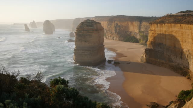 australia great ocean road 12 apostles afternoon - great ocean road stock videos & royalty-free footage
