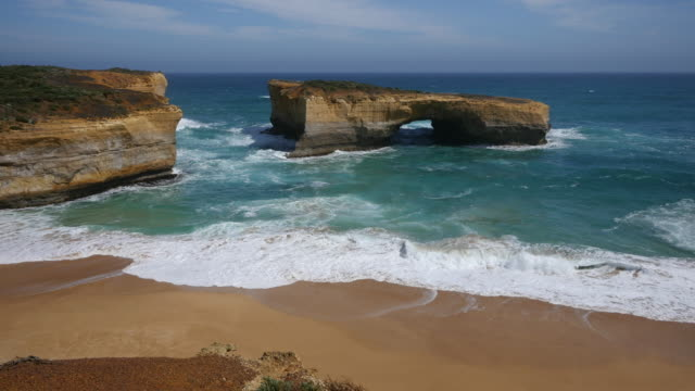 australia great ocean road london bridge broken - great ocean road stock videos & royalty-free footage