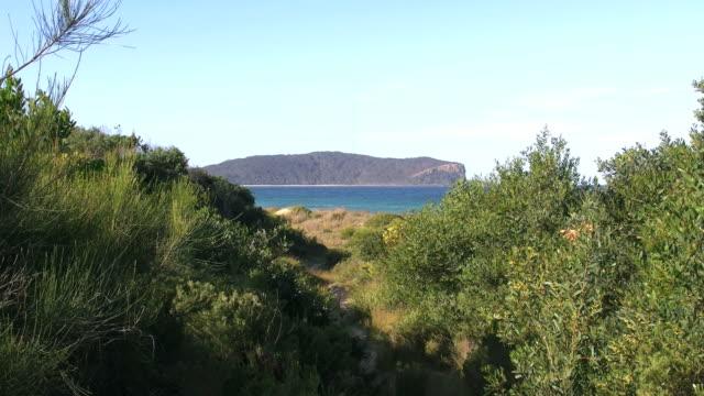Australia headland at Durras zoom in