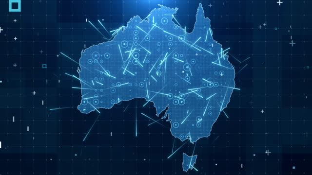 australia map connections full details background 4k - australia stock videos & royalty-free footage