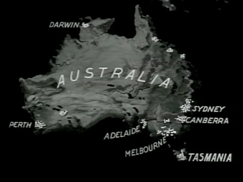 australia. map: south pacific islands japan australia & new zealand. - pacific islands stock videos & royalty-free footage
