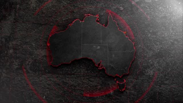 4k australia map with background hud details - map stock videos & royalty-free footage