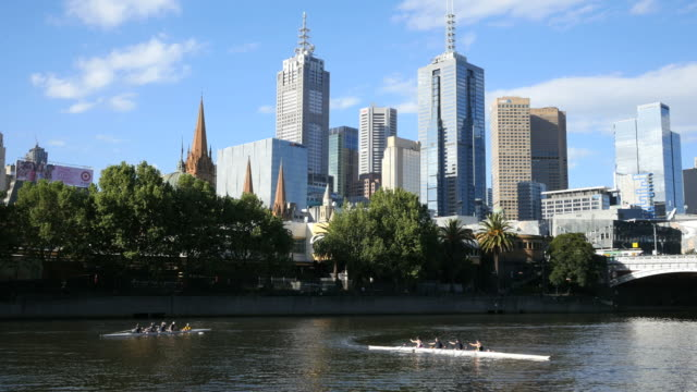 Australia Melbourne Yarra River with crew