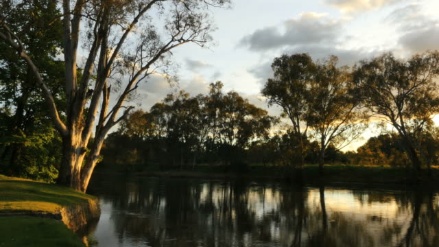 Australia Murray River at Albury late afternoon