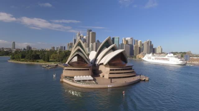 vídeos de stock, filmes e b-roll de australia sydney drone aerial - sydney