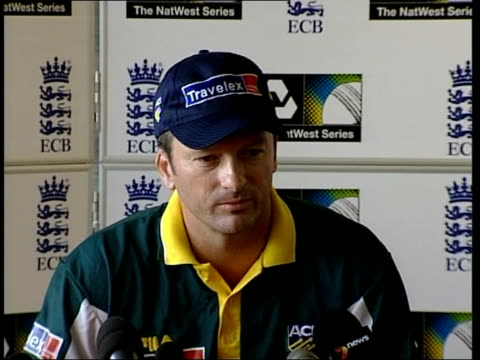 match security itn london lords cricket ground australia cricket captain steve waugh pakistan captain waqar younis cricket captains posing for... - lords cricket ground stock videos and b-roll footage