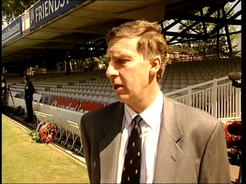 australia vs pakistan: match security; itn london: lords cricket ground day roger knight interview sot - flags, banners, musical instruments,... - itv late evening bulletin点の映像素材/bロール
