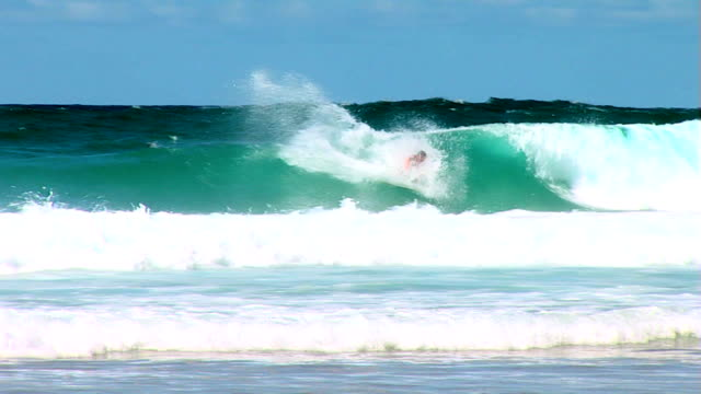Australia wave with surfer riding