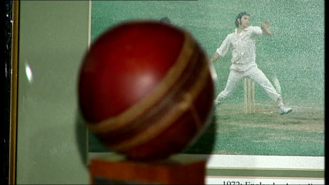australia will go into the ashes as underdogs r18040804 / lord's cricket ground mcc museum cricket ball on display - cricket ball stock videos & royalty-free footage