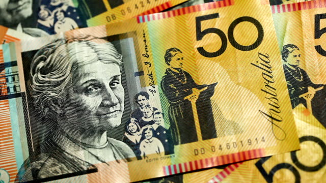australian 50 dollar notes - investment stock videos & royalty-free footage