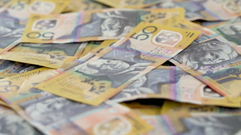 australian $50 note - front close up on turntable. - investment stock videos & royalty-free footage