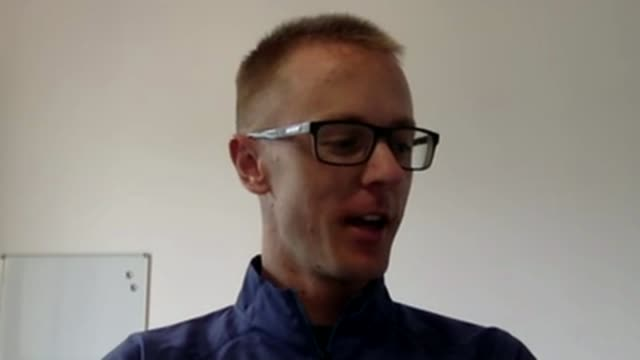 Australian athlete stages his own medal ceremony Via Internet link INT Jared Tallent interview SOT