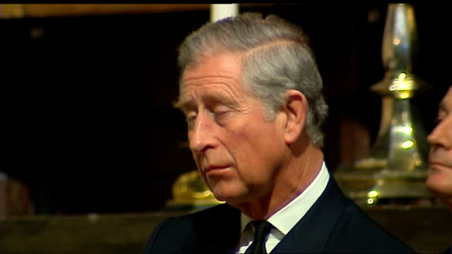 australian bushfire memorial service at westminster abbey prince charles seated during service prince charles leaves abbey at end of service with... - memorial event stock videos and b-roll footage