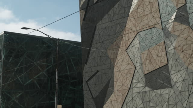 MS TD Australian Centre for the Moving Image building at Federation Square, Melbourne, Victoria, Australia