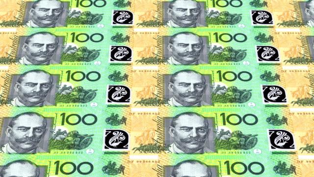 australian dollar printing - animation